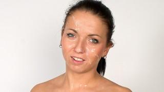 Teenie tries porn, shocked by enormous facial