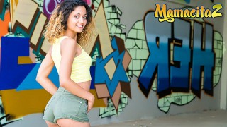 Chicas Loca - Curly Hair Spanish Babe Nasty Risky Outdoor Fucking Fucking Stranger