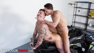 Lance Ford Teaches His Stepbrother How To Ride - NextDoorTaboo