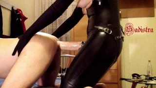 Like a Virgin - slave must singing while Mistress Sadistra ramming his ass