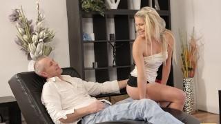 VIP4K. Seductive model seduces older male for unforgettable sex