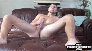 Sixpack american stud enjoys jerking his cock