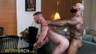 Bearback - Uncut Bear With Luscious Beard Fucks College Jock Next Door