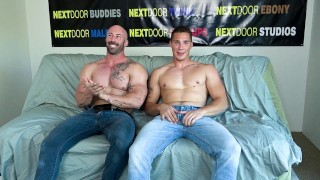 NextDoorCasting - Bearded Muscle Man's First Time Fucking A Man On Camera