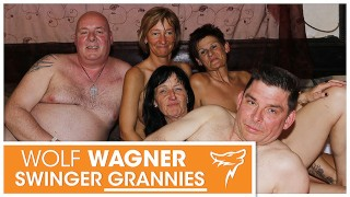 Hot swinger party with ugly grannies and grandpas! WOLF WAGNER