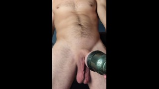 GIRTHYYYYGARYYY Creampies This Tight Fleshlight Pussy With His Big Wet Cock!!!