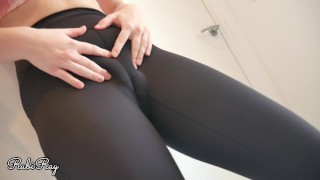 Fit Horny Step Sister Makes Him Cum in Her Panties and Pull Them Up