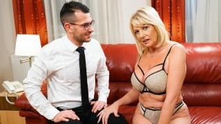 LustyGrandmas Thirsty GILF Wants To Taste The Room Service Guy's Big Dick