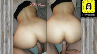 SNAPCHAT POV - Big Ass Neighbor Fucked In Doggystyle - She is Moaning To Get Some Cum -CK Road