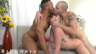 BiPhoria - Lucky Hitchhiker Picked Up By Wild Bisexual Couple