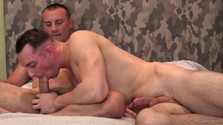 ActiveDuty - Johnny B Helps Amateur Through His First Gay Fuck