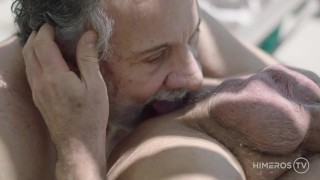 Older Real Couple Fucks With Double Sided Dildo
