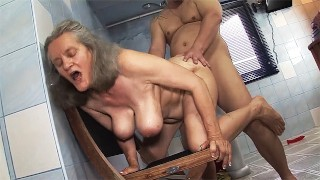 busty 83 years old mom rough fucked