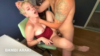 Spinner Teen in Tight Dress Gets Rough Fucked by Big Dick Daddy