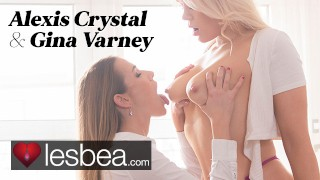 Lesbea British and Czech blondes Gina Varney and Alexis Crystal lesbian sex