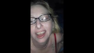 Blonde wife sucks dick to a facial