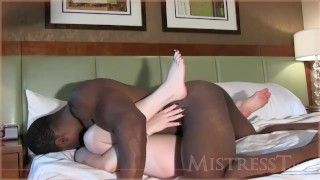 My White Wife Fucks Super Black Cock Missionary