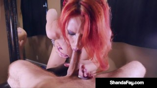 Horny Hot Housewife Shanda Fay Fills Mouth With Lucky Dick!