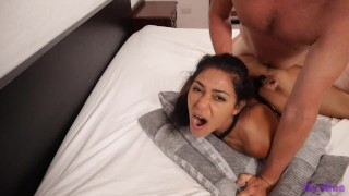 Submissive slut tied up, fucked hard and made to swallow cum   My Nina