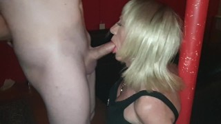 TGirl Pauline sucking Mikes cock at SheWorld sex club
