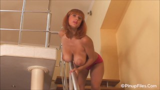 Valory Fleur shakes her spectacular natural boobs!