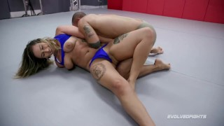 Evolved Fights - Red August Wrestling and Fighting Oliver Davis Then Sucking His Cock Before Sex