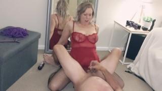 Fierce brutal pegging handjob with cum kiss - MIN MOO