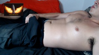 Hot Daddy Loud Moaning n Dirty Talk while Wanked Watching Porn