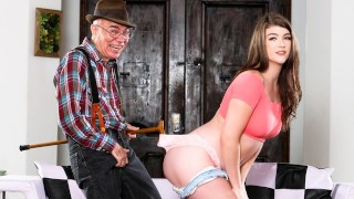 DevilsFilm Cute Teen Teaches Her Old Neighbor How To Be A Sugar Daddy