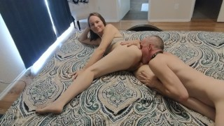 Romantic Pussy, Ass, and Cock Worship until Facial. Real Amateur Sex.