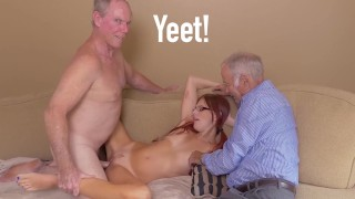 BLUE PILL MEN - Petite Australian Teen Shares Her Pussy With Horny Old Men