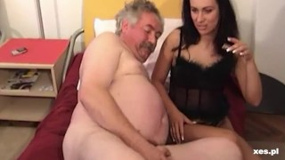 Fatty daddy cums so fast...