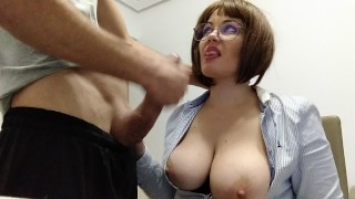 THE TEACHER WITH BIG NATURAL TITS, MAKES THE MILK OF HER BEST STUDENT