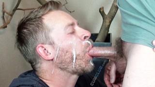 Cum Loving Load Swappers - 2 Huge Cum Swallowing Facials - Cum Eating Men