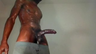 Hot guy Talks dirty I've been thinking about fucking you with this Morning Wood! Huge cumload!