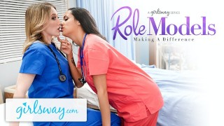 Girlsway Hot Rookie Nurse With Big Tits Has A Wet Pussy Formation With Her Superior