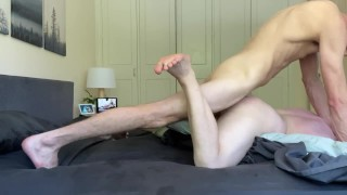 Hubby dumping a full load inside me after a morning massage