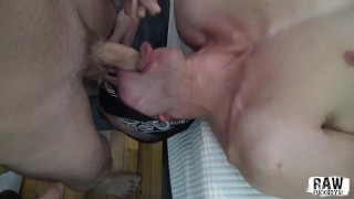 RawFuckBoys - Blindfolded Young Amateur Filmed Sucking a Massive Cock