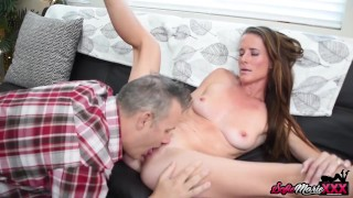 MILF Sofie Marie Fucks Hung Stud After Talking To Her Husband