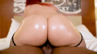 BBC Dreams of Thick Red Head Latina