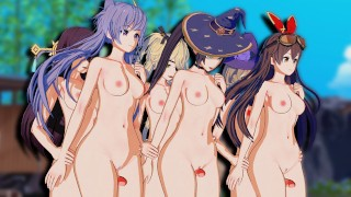 Genshin Impact 3X Futa Orgy