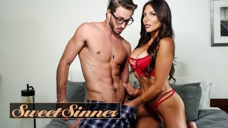 Sweet Sinner - Horny Step Mother Jaclyn Taylor Fucks Her New Step Son While there On Family Holidays