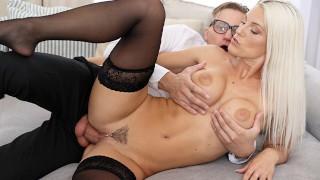 Busty Blonde Blanche Bradburry Titty Fucks Huge Cock - S12:E4
