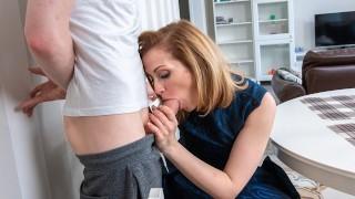 TUTOR4K. Guy creamed teachers face before shoving cock in tight hole