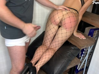 Sexy naughty bitch Feralberry asked for a spanking and fucking