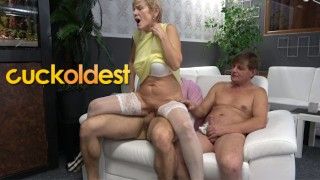 Father and Stepson Cuckolding Mommy Dearest