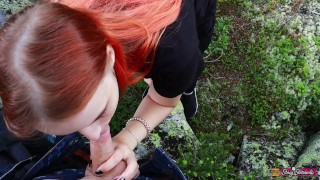 Sex And Blowjob In The Mountains With Beautiful Teen Girl - Stacy Starando