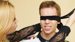 mom teaches blindfold stepson in anal fetish