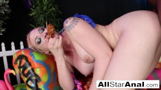 Leya Falcon feeds her BBC Anal creampie to her chicken cuck siss!