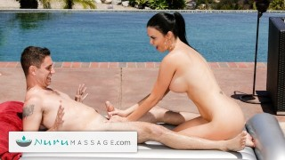 NuruMassage Stepson Caught Cheating Step-Mom Jasmine Jae Giving Oily Nuru